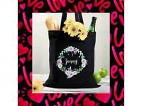 Personalised canvas bag