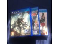 PS4 GAME BUNDLE (DESTINY 2, TOM CLANCY'S THE DIVISION & MAFIA III