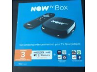 NOW TV Box with Sky Entertainment 3 Month Pass, Brand New, Sealed