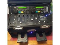 Kam CD mixer and carry case