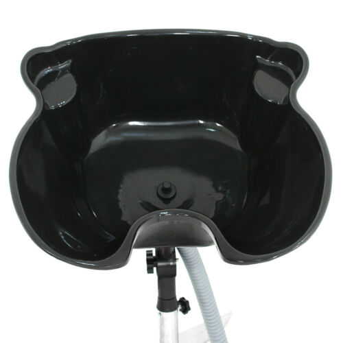 Professional Adjustable Neck Portable Shampoo Bowl Basin Drain Hose Black Backwash Units & Shampoo Bowls