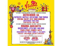 Full weekend ticket for V Festival, Hyland Park,Chelmsford, Red zone camping.