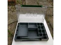 Small part tool box organiser with locking lid