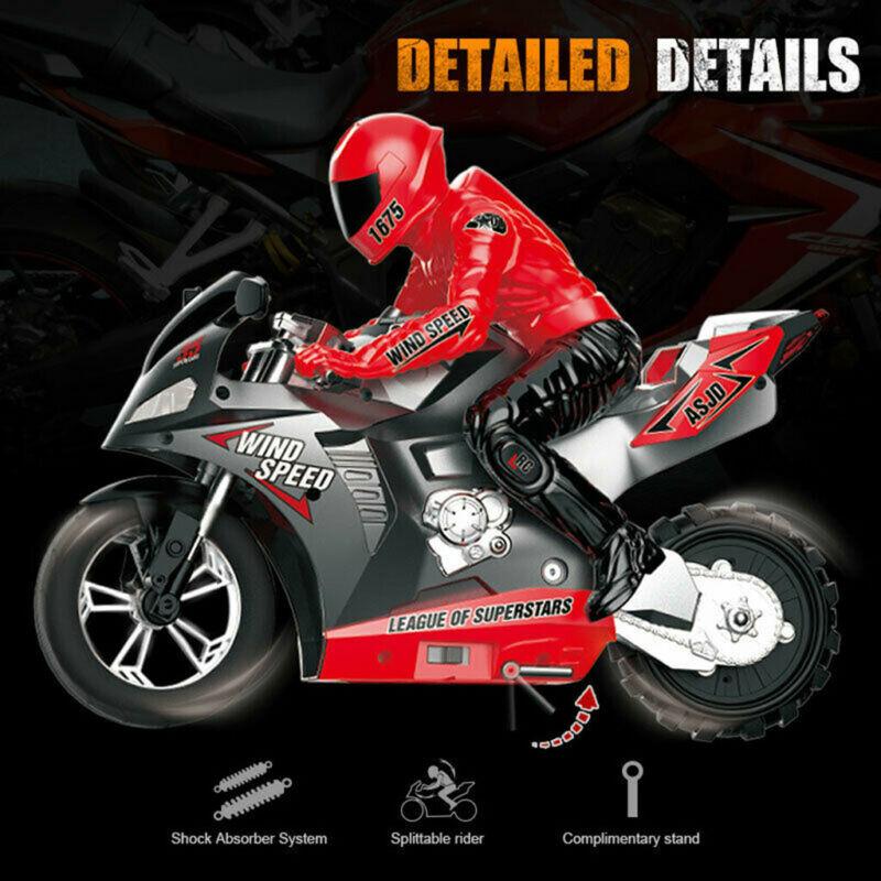 Children 1:6 RC Motorcycle 2.4G Vehicle Models RC Motorbike
