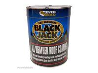 Everbuild Blackjack 905 Weather Roof Coating Bitumen Compound 5 Litre black jack