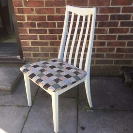 Lovely G Plan Chair Painted in any colour & reupholstered in any fabric of your choice