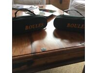 2 Luxury Boules set of three French styled steel boules