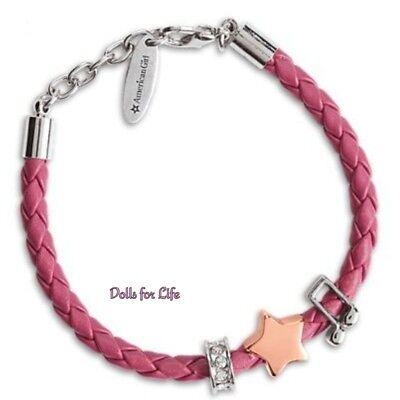 American Girl Tenney Grant Pink Woven Charm Bracelet FOR GIRLS CHILD NEW!