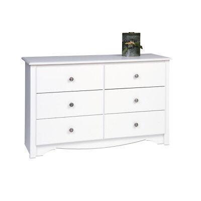 Furniture Sonoma 6 Drawer Condo Size Dresser -White NEW