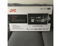 "White JVC 24"" Smart HD TV/DVD Combi with WI-FI"