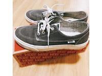 Vans Brigata Asphalt Grey stripes trainer/shoes size UK6.5