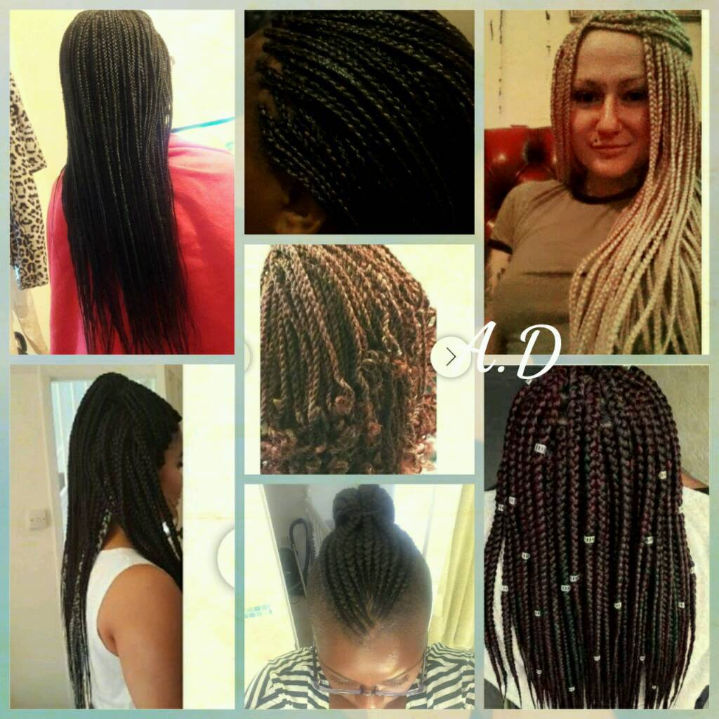 Friendly Mobile Afro Caribbean Caucasian Hairdresser All Braids Weaves Crotchet Wigs