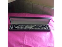 Stunning DIAMANTÉ set: necklace, bracelet & earrings in presentation box