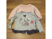 2 x Girl Tops, age 3 - 4 years