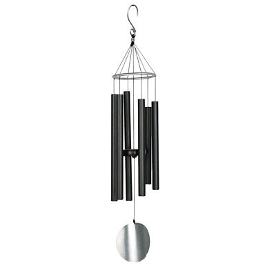 6 Tubes Bells Window Garden Yard Wind Chime Home Room Decor Gifts Black