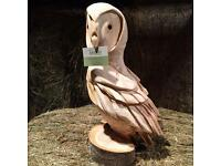 Chainsaw Carving Owl - Solid Wood Handmade Garden Feature