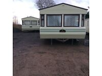 Static caravan willerby Westmorland 35x12 fully double glazed with gas central heating