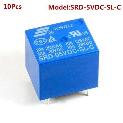 10pcs 5v Dc Household Appliance 5 Pin Spdt Pcb Relay Srd-05vdc-sl-c