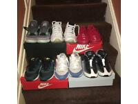 Nike AirMax x Air Jordan's Trainers/sneakers for sale! All good condition and with boxes!