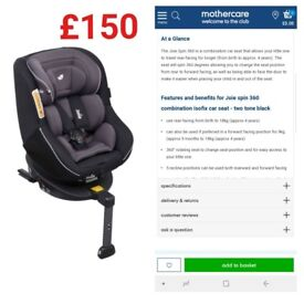 Joie 360 Carseat