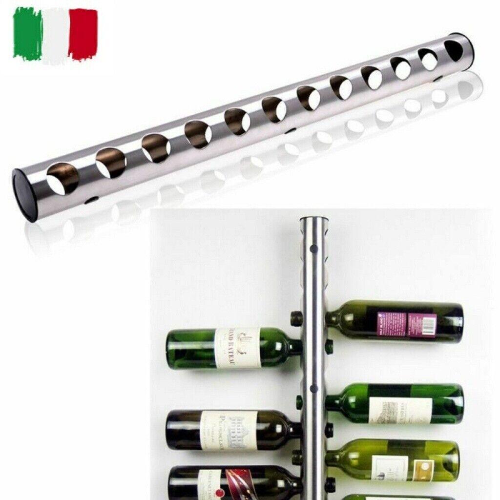 Cantinetta portabottiglie da parete metallo 12 posti cantina bottiglie di vino