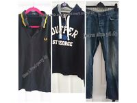 Mens clothing size and price on photos