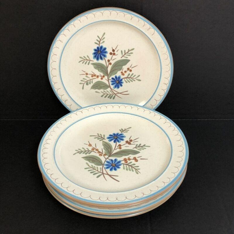 9 Stangl Blue Daisy Dinner Plates