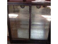 Caravell two door (sliding) bottle fridge/cooler suit pub/club man shed