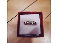 BOXED CZ RING SIZE M.
