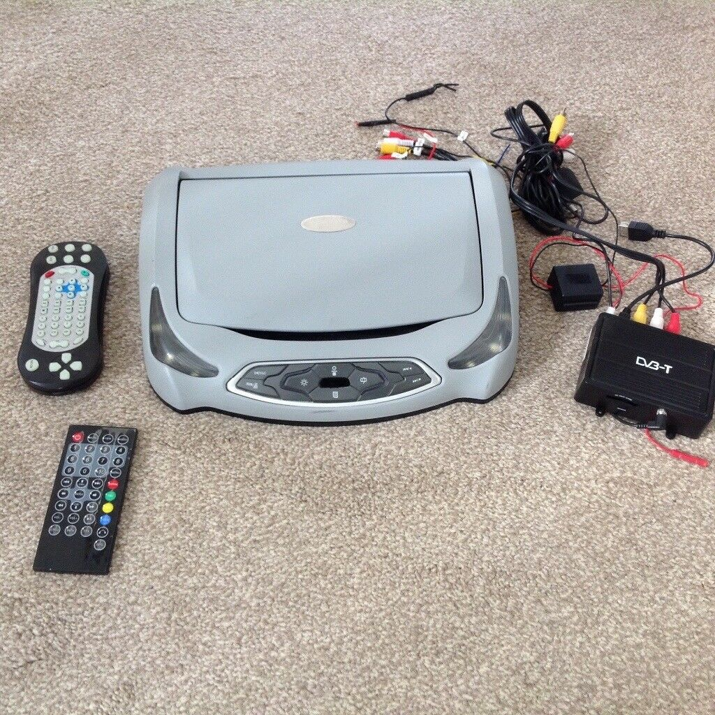 Roof mounted dvd player with freeview receiver