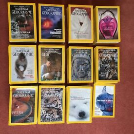 National Geographic magazines (1990-2000) - complete set