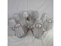 Large Franklite Artemis Chandelier Ceiling Light, 8 Silver Shades RRP, £872, 8 led bulbs included
