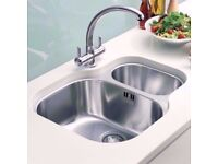 Franke 1.5 Undermount Fitted Kitchen Sink. Stainless Steel. For Granite Marble Worktop