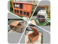 Rabbit hutch folding rabbit run rabbit house transport rabbit case
