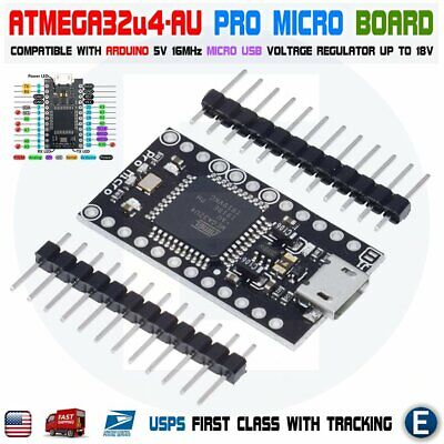 Pro Micro Atmega32u4 Au 5v16mhz Board For Arduino Pro Micro Usb Bootloader