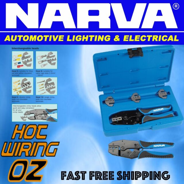 NARVA 56513 CRIMPING TOOL KIT SUITS BATTERY 50A ANDERSONS  F STYLE INSULATED