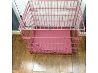 Pink puppy cage