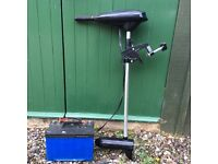 Shakespeare sigma electric outboard motor with heavy duty battery