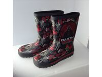 Dearth Vader black and red wellies