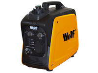 BRand NEW BOXED Wolf 800w 2.6HP 4 Stroke Petrol Inverter Suitcase Portable Generator 240v 12v