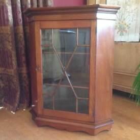 Mahogany Corner Cupboard with astral glazed door