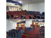 Venue For Hire | Church Halls | Christenings | Wedding Reception | Night Vigils