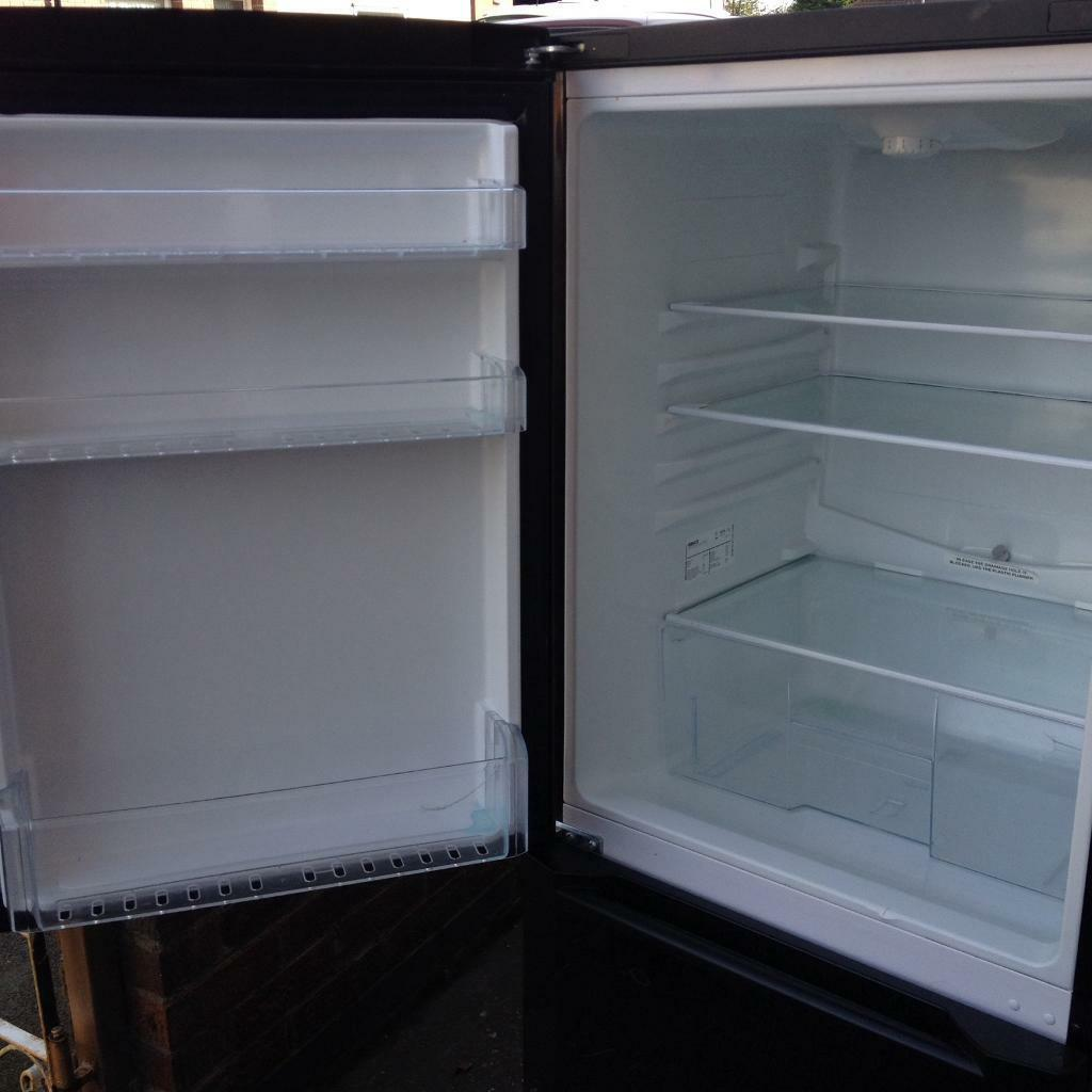 Beko black frost free fridge freezer