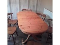 KITCHEN / DINING TABLE AND 6 CHAIRS