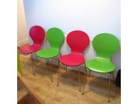 4 x 'Keeler' Style stackable Dining chairs