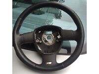 Audi s line steering wheel without airbag