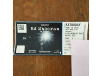 One Ed Sheeran Wembley Ticket Saturday 16th June