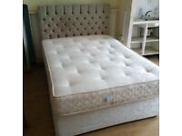 Double divan bed with very good mattress and headboard can deliver