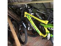 Ghost dh7 mountain bike, orange, specialized, ghost, carrera, GT