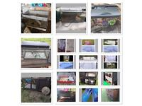 Cages hutches pens and fish tanks